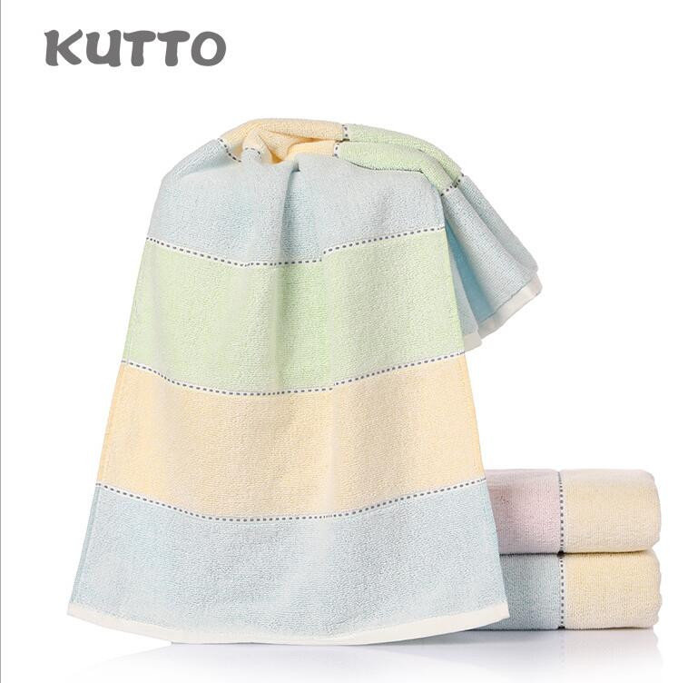 Kutto Absorbent cotton towel new rainbow rectangle 34*75cm