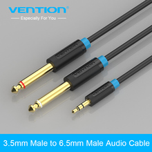 Vention Audio Cable 3.5mm To Double 6.5mm Jack Male To Male AUX Cable For MP3 Player Mixer Speaker Sound Amplifier HIFI