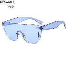 KESMALL Verano Piernas Gafas de Sol de Acetato De Marco Sin Montura Gafas de Sol Mujer Hombre Moda Océano YL347 Lentes Gafas UV400 Gafas de Sol