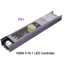 PX1 100W 5 IN 1 LED Controller 2.4G RF/APP/alexa voice control Built-in driver controller for DC24V LED strip light стоимость