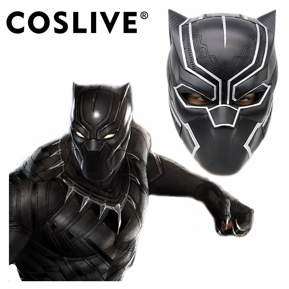 Coslive Black Panther Mask Helmet Captain America Full Head Civil War Cosplay Mask Replica Halloween Party Headwear For Adults