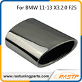 RASTP - 1Pc Chrome 304 Stainless Steel Exhaust Muffler Tip For BMW 11-13 X3.2.0 F25 LS-CR8041
