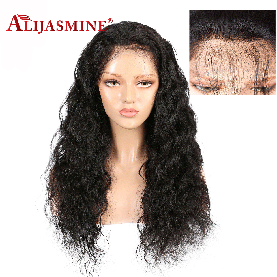 Lace Wigs Simbeauty 360 Lace Frontal Human Hair Wigs Brazilian Remy With Baby Hair Pre-plucked Wigs Glueless Bleach Knots Brown Body Wave