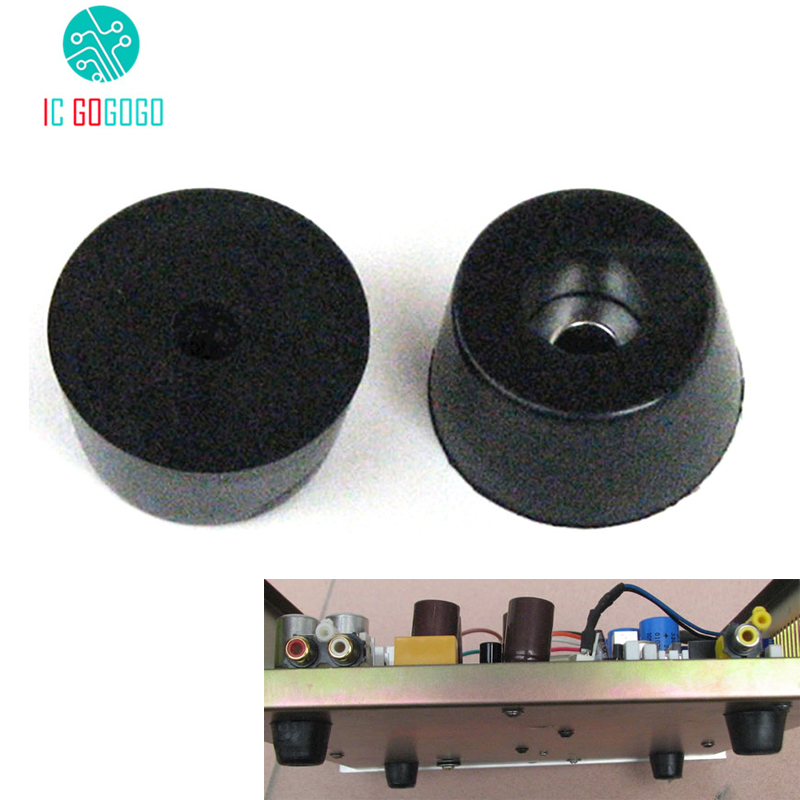 10pcs Audio Speakers Power Amplifier Anti-shock Shock Absorber Rubber Foot Feet Pads Vibration Absorption Stands