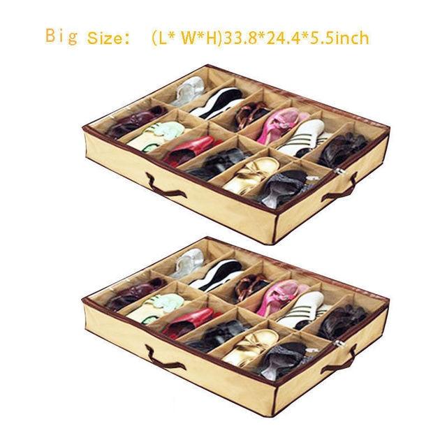 12Pair PVC Fabric Durable Shoes Box Shoe Storage Organizer Home Folding Shoes Storage Box  sc 1 st  AliExpress.com & 12Pair PVC Fabric Durable Shoes Box Shoe Storage Organizer Home ...