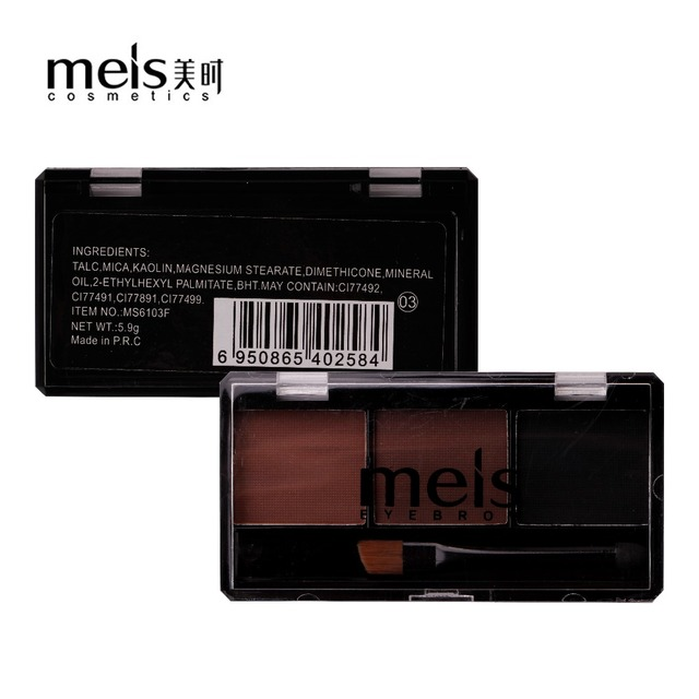 Meis Brand Makeup Cosmetics Professional Makeup 3 Colors Eye Brow