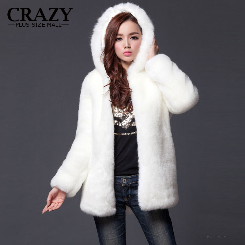 2017 New Plus Size XL XXL XXXL 4XL 5XL 6XL Winter Warm White Faux ...