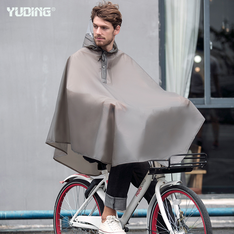 Yuding Outdoors Bicycle Rain Poncho Waterproof Thick Male Rain Capes Fashion Cycling Rain Ponchos For Men With Handbag in Raincoats from Home Garden