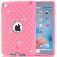 Hot Sales Female Tablet Case For IPad Mini 4 Cover 3 In 1 Hybird Plastic Silicone