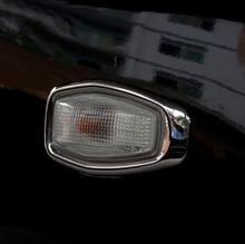 Шт. 2 шт. ABS хромированный сбоку свет лампы Крышка отделка рамки Стикеры для hyundai Tucson 2006 2007 2008 2009 интимные аксессуары