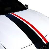 1Set Carbon Fiber Stripe Kit Sticker Decal for BMW Hood Trunk Car Styling For Hood Roof Truck Side Skirt