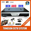 Gran Cámara de Video de 8 CAN. AHD DVR de 1080P 12cps AHD-NH CCTV. Red Onvif de 8 Canales IP NVR de 4 CAN. Entrada de Audio, alarma Multi idioma
