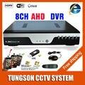 Novo 8CH AHD DVR 1080P 12fps AHD-NH CCT Câmera Gravador Onvif Rede 8 Canal IP NVR 4CH Entrada de Áudio Alarme Multi-línguas