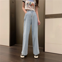 JUJULAND New Fashion 2019 Plus Size Jeans Woman Pockets Denim Ladies High Waist Blue Women Pants Female Trousers 66163