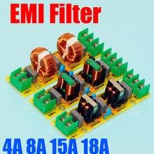 AC 110V 220V 2A 4A 15A 18A EMI Power Filter Board Purifier Amplifier Noise Impurity Purifier Filtering Noise Impurities .