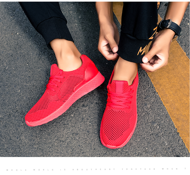 Automne gray Décontractées Lacets Mode À 10 Respirant Chaussures black Confortable Taille Tricoté gray Mouche red k18 K17 k17 Large k18 k17 k18 7 5 Unn Hommes Mâle red black Aq8wt00f