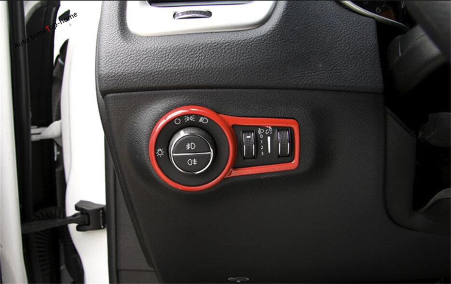 Yimaautotrims Head Lights Lamp Switch Button Frame Cover Trim Interior For <font><b>Jeep</b></font> <font><b>Compass</b></font> Left-hand Drive Model 2017 2018 <font><b>2019</b></font> ABS image
