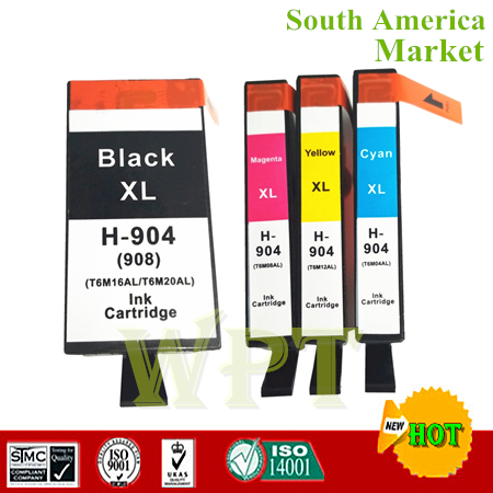 Compatible Ink Cartridge For HP904XL HP908xl For Hp OfficeJet Pro 6970 All in One Printer South America in Ink Cartridges from Computer Office