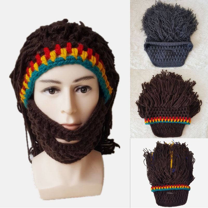 68b1f5723f2 These New Crochet Bobble Beard Pattern Hat Make Kids   People Cuter ...