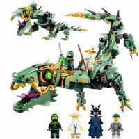 592pcs Ninjagoes Movie Series Flying Mecha Dragon Diy Building Block Baby Toys Model Bricks Gift Compatible