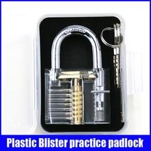 Diseño de moda Estilo Moderno Transparente Visible Pick Cutaway Práctica Mini Ver Candado Cerradura de Entrenamiento de Habilidades Para El Cerrajero