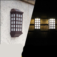 الحديث abs عالية مشرق الصمام 5 واط أضواء مدخل الجدار مصباح لل حديقة الشارع الشمسية 1322