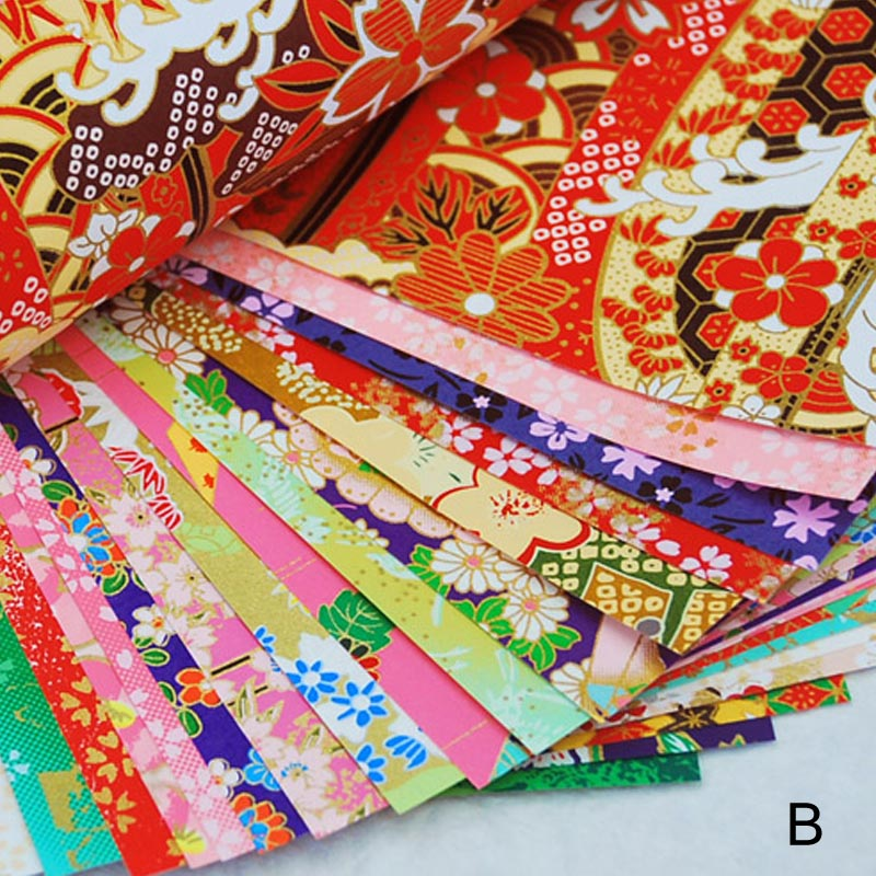 20pcs/pack Gift Packaging Materials Gold Lines Square Decorative Paper Handcraft Accessories Origami Paper Handmade Paper Flower