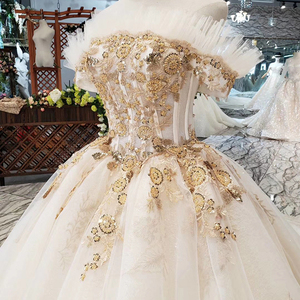 Image 4 - HTL323 Special sexy Wedding Dress with train off shoulder boat neck bridal dress gown free shipping mariage champetre