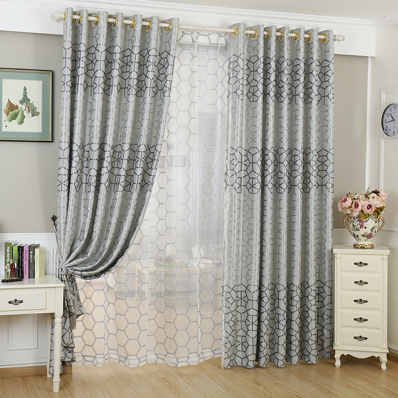 geometric curtain fabric