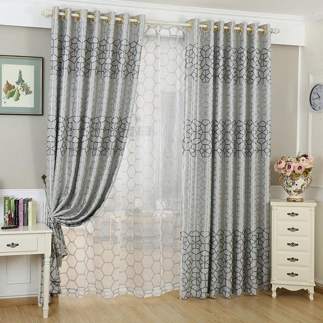 Custom simple moderna jacquard apag n cortina de tela - Cortinas de tela modernas ...