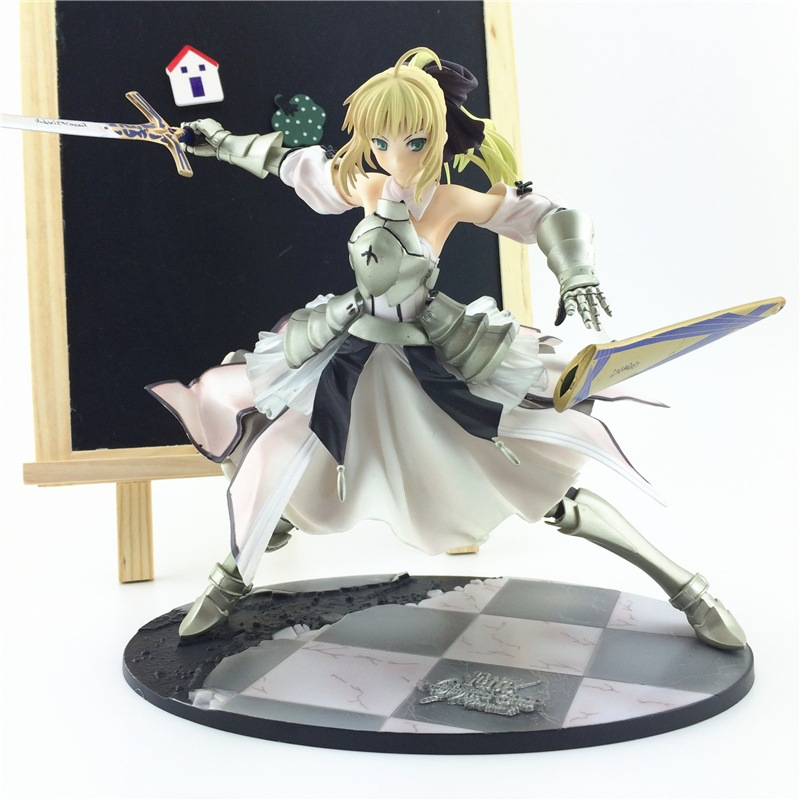 Cool 9 Fate Stay Night Unlimited Codes Saber Lily 1/7 Scale 22cm PVC Action Figure Collection Model Toy le fate топ