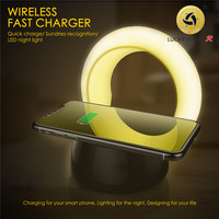 wireless charger, mobile phone bracket, night light combination, general intelligent touch memory night light 10W fast charging