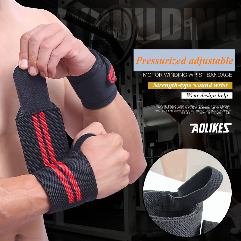 1 Pair Weight Lifting Training Sport Wrist Bandage Professional Crossfit Bodybuilding Glove Protect Wrist Weightlifting Dumbbell