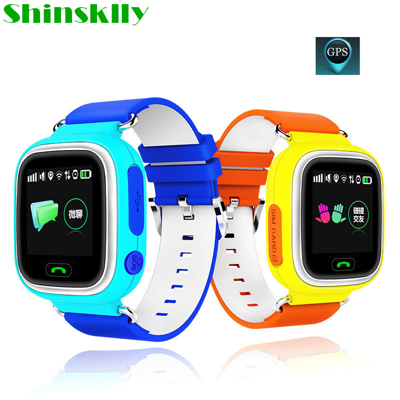 Boy Girl GPS smart watch baby watch Q90 with touch screen SOS Call Location DeviceTracker for Kid Safe Anti-Lost Monitor PK Q80 smart baby watch каркам q60 голубые