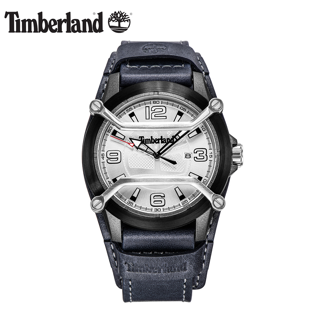 Timberland Mens Watches Large Dial Men's Watch Casual Quartz Calendar Water Resistant Black Men Watch T13867