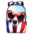 2016 Women Backpack 3d Cartoon Cat Backpack Back to School College Backpack New Fashion Men Travel Print  Canvas Bag pack