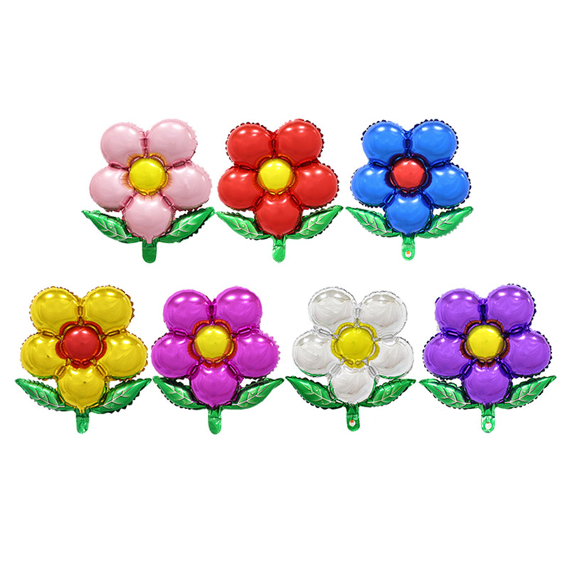 XXPWJ Free shipping 1pcs flowers aluminum balloons birthday party balloons whole