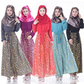 Vestes muçulmanas vestes de robes de seda chiffon vestido de mangas compridas das mulheres muçulmanas na arábia