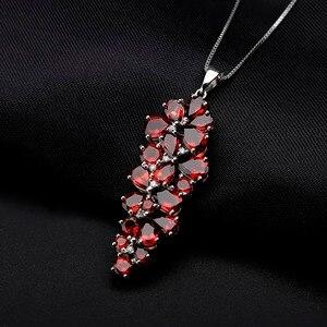 Image 2 - GEMS BALLET collar con colgante de plata de ley 925 y Gema de granate roja, joyería fina, Estilo Vintage, boda