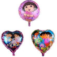 1pcs Hot style hot 18 DORA love adventure aluminum film balloons children cartoon birthday party decoration