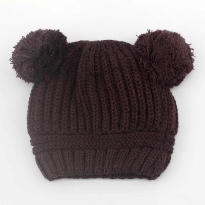 Thương Hiệu thời trang Mùa Đông Mùa Thu Dệt Kim Trẻ Sơ Sinh Crochet Bé Hat Cô Gái Trai Len Cap Trẻ Em Beanie Trẻ Sơ Sinh Trẻ Áo Len Đan