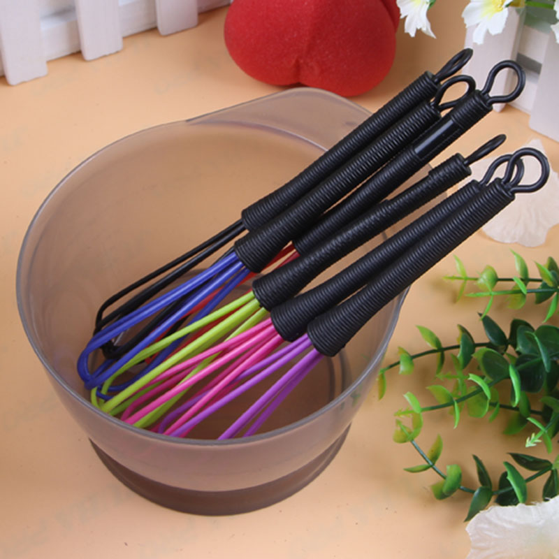 S barber Salon access Random Color Plastic  Hairdressing Promotional Dye Cream Whisk  Mixera Barber Stirrer Hair Care Styling
