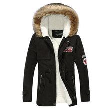 Men Winter Slim Thicken Fur Hooded Jacket