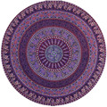 Round Hippie Tapestry Femme Beach Throw Roundie Mandala Towel Yoga Mat Bohemian Au22