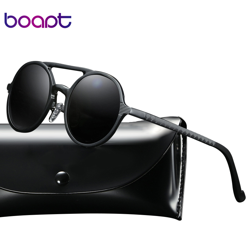 3f8087d5292  boapt  Vintage Eyewear Retro Driving Aluminum Magnesium Sunglasses For Men  Round Women Unisex Polarized Brand Designer Glasses