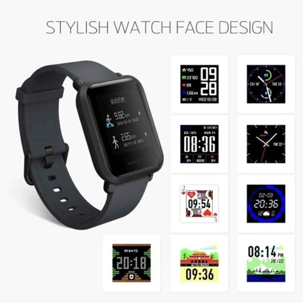 Xiaomi HUAMI Smartwatch GPS Smart Watch International Bluetooth Wristwatch Heart Rate Monitor Watch Fitness Activity Tracker