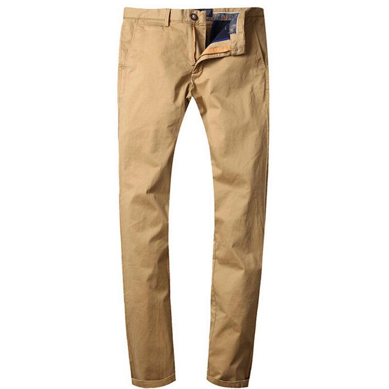 Earoomze мужчины брюки 2017 весна лето хлопок прямые брюки парня slim fit работа брюки чинос khaki плюс размер 40