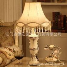 Continental Table Lamp for Living Room Coffee Table Creative Fashion Luxury Resin Classical Desk Lamp(China)