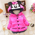 BibiCola Children Coat Minnie Baby Girls winter Coats Long-sleeved Coat Girl Warm Baby jacket Winter Outerwear Thick Kids Hooded