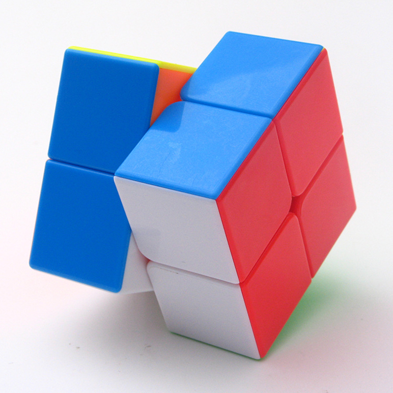 2019 New Qiyi 50mm Divine Jewel 2x2x2 Magic Cube 2 By Cubes Striae Colour Competition Educational Toys For Kids Cubo